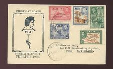 FIJI 1938 FIRST DAY COVER ILLUSTRATED 5 VALUES...BROADCASTING CO