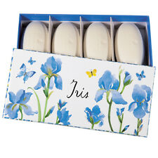 NEUF 2016! Fragonard Iris seifenset-New! Fragonard Iris set of 4 pebbled soaps