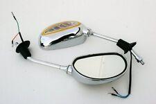 Spiegel Roller mit Blinker 930 8mm CHROM Rück SYM Kymco CPI PGO Rex Beta Neu