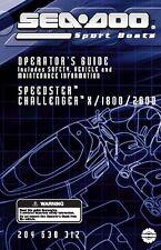 Sea-Doo Owners Manual Book 2004 SPEEDSTER, CHALLENGER 1800 & CHALLENGER 2000