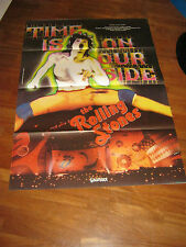manifesto 1982,TIME IS ON OUR SIDE, Mick Jagger The Rolling Stones,musicale,rock