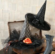 "Set of 2 RAZ Imports 16"" WITCH HAT Halloween Decor"