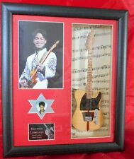 Prince Framed Miniature Tribute Guitar with Plectrum