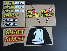 1984-1985 YT60 TRI-ZINGER Red Model Complete Graphics Kit Decal Stickers ATC