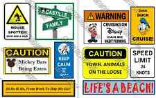UPDATED!!  10 Disney Cruise Line Signs Door Magnets - Group N