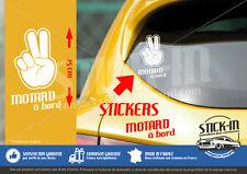 """Autocollant Sticker """"Motard A bord"""" Honda Yamaha Suzuki Kawasaki Ducati Moto"""