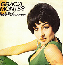 GRACIA MONTES- EL CARACOL + EL TORITO DEL AMOR SINGLE PROMO SPAIN 1971 GOOD