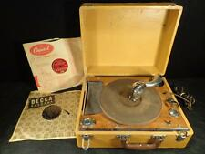 Antique 1920'S GEIB PHONOGRAPH VICTROLA RECORD PLAYER PORTABLE VERY RARE WORKS