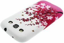 New! Pink Flowers Print Gel Skin Case / Cover for Samsung Galaxy S3 / S3 Neo
