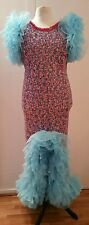 XL Drag Queen /costume/multi colour sequin stage long Dress UK size 20/22/24
