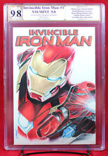 Invincible Iron Man #1 PGX (not CGC) 9.8 NM/MT Sketch Cover by JENNIFER ALLYN!!!