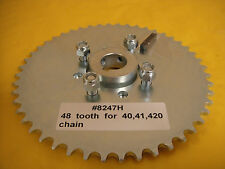 """GO CART SPROCKET AND HUB FOR 1"""" AXLE ,48 TOOTH FOR #40,41 &420 CHAIN  WAO:8247H"""