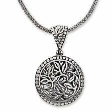 Sterling Silver Necklace 925 Handcrafted 'Bamboo Labyrinth' NOVICA Bali