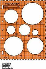 FISKARS SHAPE TEMPLATE CIRCLES SHAPECUTTER CIRCLE