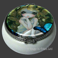 *LILY* Strangeling Fairy Art Mini Ceramic Trinket Box By Jasmine Becket-Griffith