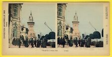 cpa PHOTO STEREO Exposition Universelle 1900 PARIS PAVILLON of HUNGARY HONGRIE