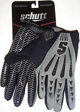 Schutt DNA BLACK LB/Lineman Football Gloves Ad SM GR/BK