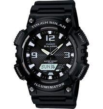 Casio AQS810W-1A Men's Black Solar Analog Digital World Time Sports Watch