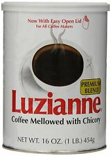 Luzianne Premium Blend Coffee and Chicory, 16 Ounce Cans (Pack of 3) , New, Free