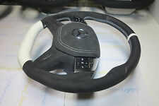 Mercedes E W212 C W204 custom Alcantara flat bottom steering wheel 4 spoke AMG