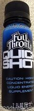 2007 FULL THROTTLE Quick Shot Energy Drink 2oz Unopened Blue Agave Saloon RARE