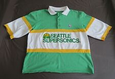 Vintage NBA Seattle Supersonics Men's Large Shirt Top Green Stripe Basketball L