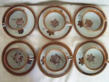 El Palomar Ken Edwards Cups Saucers Set of 6 Mexican Pottery