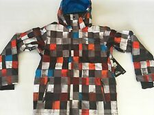 Quiksilver Men's Multi Colored Snow 10K Jacket Ski Snowboard Insulation Size S