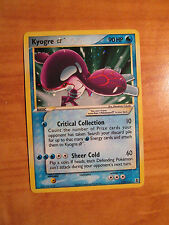 GOLD STAR Pokemon KYOGRE Card EX DELTA SPECIES Set 112/113 Ultra Rare Shining