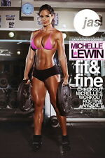 "006 Michelle Lewin - Sexy Model Bodybuilder Fitness Girl 14""x21"" Poster"
