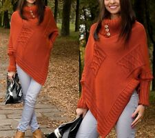 Top Woman Store Thick Heavy Poncho Jersey Turtleneck Warm Jumper Sweater