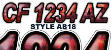 AB18 Boat Registration Numbers PWC Decals Stickers Graphics CF, NV AZ....