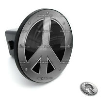 "2"" Tow Hitch Receiver Plug Cover Insert For SUV's & Trucks - ""PEACE SIGN"""