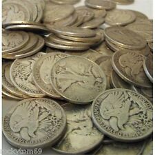 (200) Coins Full date/rim Walking Lib halves 90% Silver! $100 face value