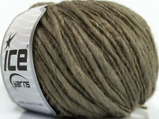 Ash Brown Winter Thin Thick 39182 Ice Bulky Acrylic Wool Blend Yarn - 50gr 71yds