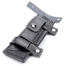 "CA Black Hot Sale Straight Leather Belt Sheath For Less 7"" Fixed Knife Pouch Bag"
