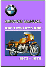 BMW Workshop Manual R90S R90 R75 R60 6 Series 1973 1974 1975 and 1976 FACTORY