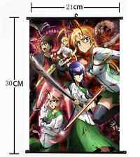 Anime HIGHSCHOOL OF THE DEAD Wall Poster Scroll Home Decor cosplay 872