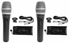 2 Rockville RMP-XLR Dynamic Cardiod Pro Microphones + 10' XLR Cables+2 Clips
