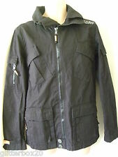 "NEW ***SALE**** £74.99 SUPERDRY  RIPSTOP BLACK COTTON JACKET SMALL 36"" CHEST"