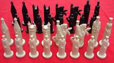 Vintage 1962 Peter Ganine Gothic Style Conqueror Full Chess Set 32 Pieces