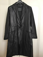 POLLINI TRUE LEATHER VERA PELLE BLACK LEATHER COAT CAPPOTTO PELLE NERA NEW 10