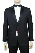 NWT IZOD 44S Solid Black  Two Button Tuxedo  Suit