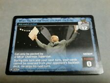 WWE Raw Deal WHEN YOU RUN THE SHOW YOU MAKE THE RULES GM CHAIRMAN PREMIUM RARE