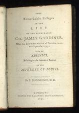 1791 -  Life of Colonel Gardiner - Battle of Preston-Pans.