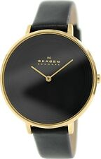 Skagen Women's Ditte SKW2286 Black Leather Quartz Fashion Watch
