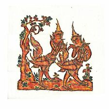"Thai Temple Rubbing - Multi-Color - Mythical Beings - 24"" x 24"" -         2412MC"