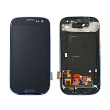 For Samsung Galaxy S3 i9300 Touch Screen Glass Digitizer LCD Full Assembly Frame