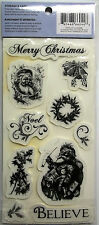 10 Christmas Stamps  unmounted Rubber Cling Stamps by Cloud 9 Designs NIP