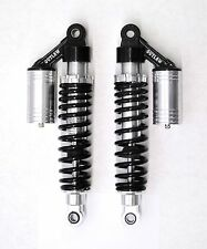 "OUTLAW CYCLE PRODUCTS SILVER HARLEY 12.5"" PIGGYBACK SHOCKS FXR SPORTSTER"